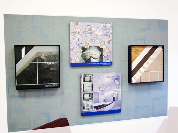Private Office Wall Display: USG Corporate Innovation Center